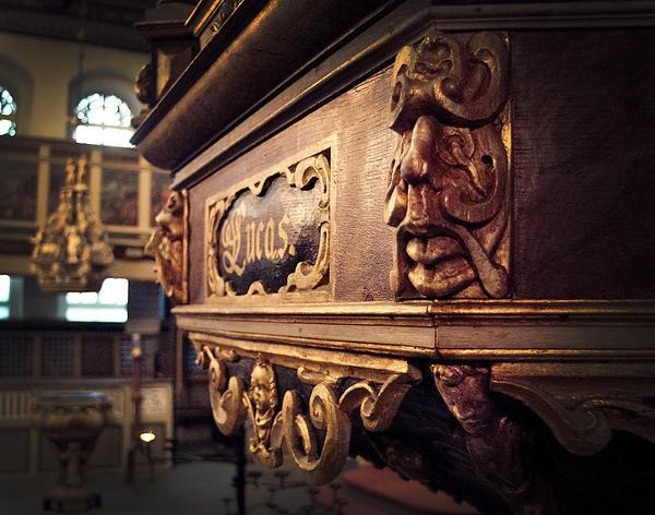 St. Nikolai Detail von der Kanzel