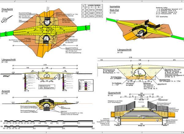 Erneuerung Krückaubrücke - Plan
