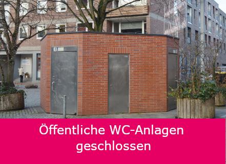 Öffentliche Toiletten geschlossen