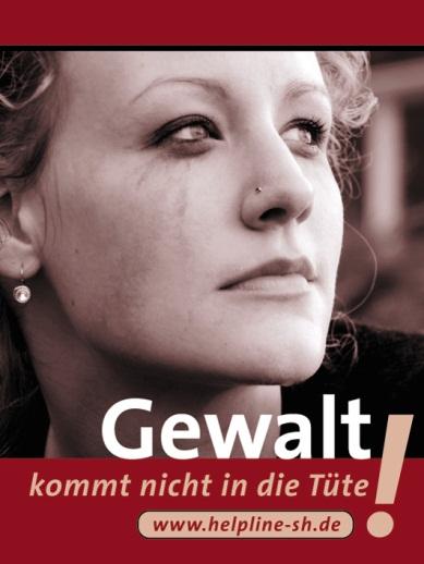 Plakat  Frei leben  - Ohne Gewalt