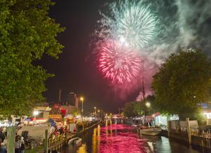 Das spektakuläre Feuerwerk gehört zu den Höhepunkten der Flora-Woche.
