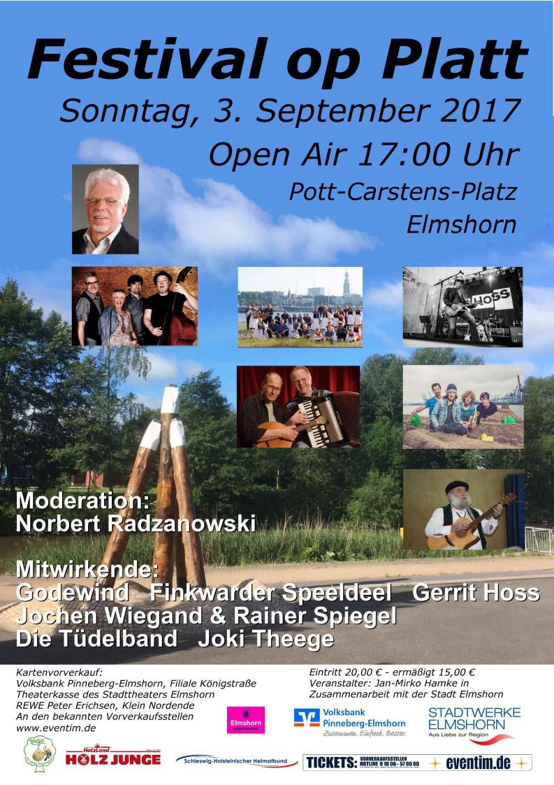 Am 3. September geht auf dem Pott-Carstens-Platz das erste Elmshorner Plattdeutsch-Festival über die Bühne.